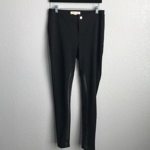 Micheal Kors Pants with Faux Leather  Panel